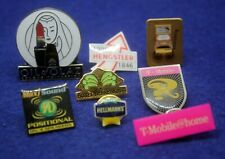 Lot of 8 Advertisement Pins - T-Mobile, Olay, Hellmann's, Maxi Sound etc