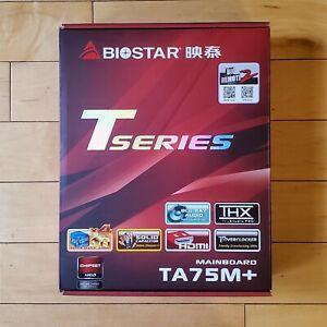 Biostar Motherboard TA75M+ AMD FM1 A75 DDR3 PCI-E SATA USB3.0 MicroATX HDMI DVI