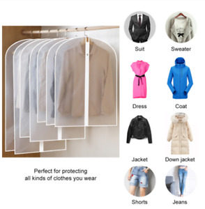 10X Dustproof Storage Bag Garment Dress Cover Suit Clothes Coat Jacket Protector