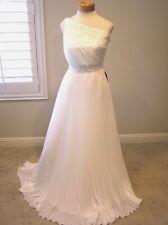 NWT$1020 CARMEN MARC VALVO Destination wedding gown pleated one shoulder IV 4