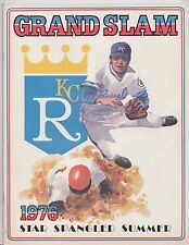 1976 Kansas City Royals Official MLB Yearbook Program Sat Spangled Summer