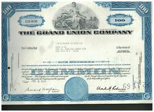 The Grand Union Company Stock Certificate Lot of 5 Supermarkets 1960s