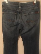 7 FOR ALL MANKIND Bootcut 100% Cotton Women's Blue Jeans - Size 31 - 32Wx32L