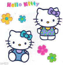 """4"""" HELLO KITTY SANRIO & FLOWERS BLUE  CHARACTER  PREPASTED WALL BORDER CUT OUT"""