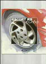 FORD ESCORT RS TURBO SALES BROCHURE  JULY 1986 FOR 1987 MODEL YEAR
