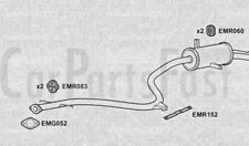 Exhaust Rear Box Hyundai S Coupe 1.5 Petrol Coupe 10/1992 to 03/1995