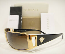 VERSACE 2021 SUNGLASSES BLACK GOLD (100213) AUTHENTIC NEW