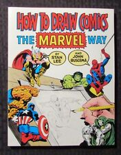 1984 How To Draw Comics The Marvel Way Stan lee & John Buscema NM 1st Fireside