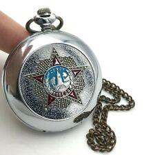 Pocket Watch MOLNIJA WW2 Victory Anniversary Limited Mechanical SERVICED Chain