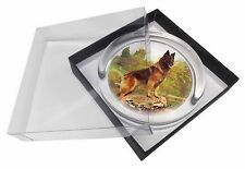 More details for belgian shepherd 'love you dad' glass paperweight in gift box christma, dad-11pw
