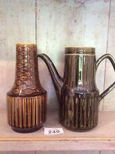 Vintage Sadler Mustard / Brown Coffee Pot 1970's Retro and Glazed Ceramic Vase
