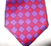 ROBERT TALBOTT Vintage USA Finest Silk Hand Sewn Colorful Pattern Necktie