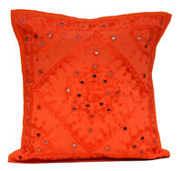 An Indian Embroidery Mirror Work Ethnic Throw Pillow Case Cushion Cover
