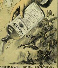 1870's-80's Devils Demons Fantasy James Meyer, Jr's Girondin Bottle Card F77