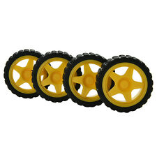 4PCS Small   Car Model Robot Plastic Tire Wheel 65x26mm for arduino HP