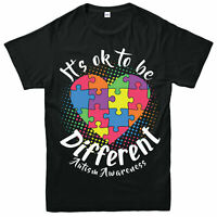 Autism Awareness T-Shirt, Different Puzzle Heart Love Gift Adult & Kids Tee Top
