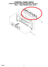 New listing Genuine Whirlpool Built In Oven, Control Board # W10406070