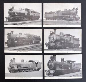6  POSTCARDS  RAILWAYS - RHODESIA  -  6th 7th  8t 9th 9A 9B CLASS LOCOMOTIVE