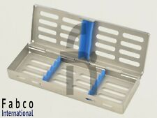 Dental Sterilization Cassette Autoclave Tray Rack Box 5 Instruments
