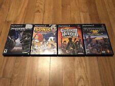 PlayStation 2 Lot of 4 Video Games Socom Sonic Guitar Hero III Transformers