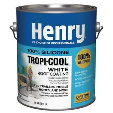 Henry Roof Coating 0.90 Gal. Mildew Resistant Silicone Base Polymeric White