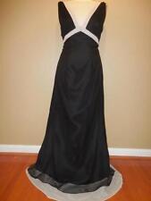 7133 EDEN MAIDS Bridesmaid BLACK/LATTE Embellished  Dress 10
