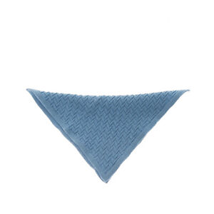 MALO Knitted Handkerchief Pocket Square Chevron Pattern Made in Italy