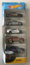 Hot Wheels CAR MEET 5 Pack * Bel Air Gasser WRX Mustang * 50th Anniversary * 9A