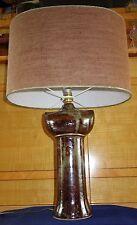 Lampe céramique grès vernissé / émaillé / signé / Design 70 / Poterie sculpture