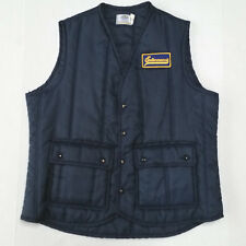 Vintage Entenmanns Baked Goods Work Uniform Puffer Vest Mens Large Hipster