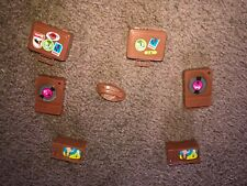 Vintage Barbie 1971 Busy Ken Television World Brown Suitcase Record Player 7 PCS