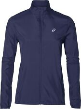 Asics Silver Womens Running Jacket - Navy