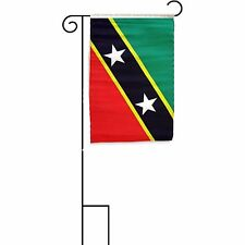 "12x18 12""x18"" St. Kitts and Nevis Sleeved w/ Garden Stand Flag"