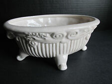Vintage Footed Pottery Planter Dish