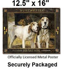 Winchester For Sale Hunting Dog wall art TIN SIGN metal poster kennel decor 2176