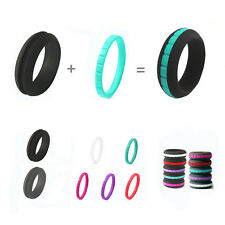 1 Set Hypoallergenic Silicone Wedding Band Ring Women Men Rubber Jewelry Gifts