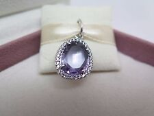 New wHinged /Box Pandora Glamorous Legacy Amethyst Pendant ONLY 390353am