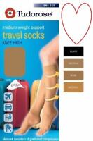 Ladies Travel socks Knee High Flight Medium Weight Support U.K 4-7