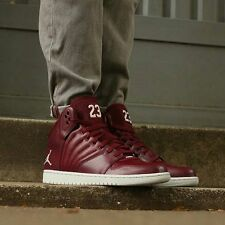 NIKE JORDAN 1 FLIGHT 4 Trainers Shoes Mid Leather UK Size 9 (EU 44) Night Maroon