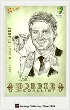 Rare-2008-09 Select Cricket Case Card Oversize Sketch Card CCSK6 Michael Clarke