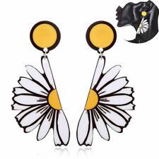 Fashion Acrylic Earrings Girl Holiday Flower Daisy Exaggerate Drop Women Jewelry