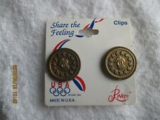Vintage Usa Olympics Revere Clip-On Earrings Fan Apparel & Souvenirs New Tag