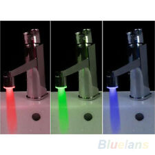 FM- LC_ TEMPERATURE SENSOR LED LIGHT WATER FAUCET TAP GLOW SHOWER RGB KITCHEN GA