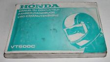 Conducente-manuale, owner's manual, manuel du conducteur HONDA VT 600 C, 1988