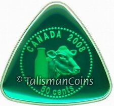 Canada 2008 Milk Delivery Dairy Token 50 Cents Triangle Enamel Silver Proof