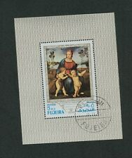 FUJEIRA CHRISTMAS 1970 SOUV SHEET MICHEL BLK 35A PERFORATED CTO