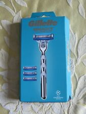 GILLETTE MACH 3 TURBO RAZOR + 4 BLADES NEW BNIP