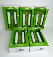 Holiday Time Lot of 5 Battery Operated Candle Lamp 2 packs Brass Finish 2AA NEW