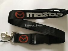Black White MAZDA ZOOM ZOOM Lanyard NEW UK Seller Keyring ID Holder Strap