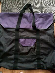 Embroidery Slate Frame canvas Bag handles black purple art waterproof